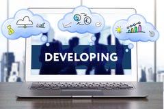 Estrategia de marketing Concepto de la estrategia del planeamiento Negocio, technol fotografía de archivo libre de regalías
