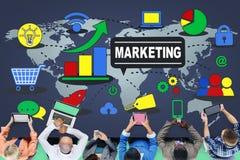 Estrategia de marketing que califica plan comercial del anuncio fotos de archivo libres de regalías
