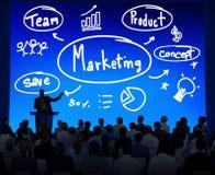 Estrategia de marketing Team Business Commercial Advertising Concept Ilustración del Vector