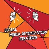 Estrategia de optimización social del texto de la escritura de la palabra medios Concepto del negocio para las estrategias Hu de  libre illustration