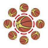 Estrategia del baloncesto ilustración del vector