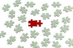 Estrategia del concepto del rompecabezas, concepto del asunto Fotografía de archivo