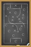 Estrategia del fútbol Imagen de archivo libre de regalías