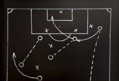 Estrategia del juego de fútbol Fotografía de archivo libre de regalías