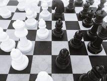 Estrategia del juego de mesa del ajedrez Fotos de archivo libres de regalías