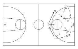 Estrategia del juego dibujada en el tablero blanco fotografía de archivo