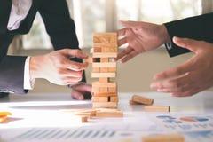 Estrategia del riesgo de negocio e idea de cepillado del concepto fotos de archivo