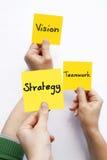 Estrategia del trabajo en equipo de Vision Fotografía de archivo libre de regalías