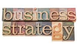 Estrategia empresarial Foto de archivo libre de regalías