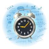 Estrategia empresarial del despertador ilustración del vector