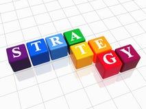 Estrategia en el color 2 Foto de archivo libre de regalías