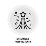 Estrategia para Victory Line Icon Imagen de archivo libre de regalías