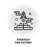 Estrategia para Victory Line Icon Imágenes de archivo libres de regalías