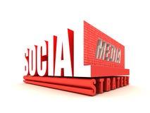 Estrategia social de los media Imágenes de archivo libres de regalías