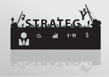 Estrategia t del edificio de la grúa del emplazamiento de la obra del vector libre illustration