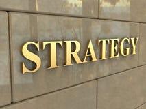 Estratégia da palavra Imagens de Stock