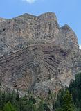 Estratificación geológica en la base de Gran Vernel Fotografía de archivo