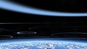 Estratosfera azul ilustración del vector