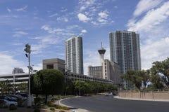 Estratosfera e construções de Las Vegas imagem de stock