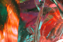 Estratto 9 di vetro fuso fotografia stock libera da diritti