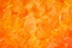 Estratto acquerello arancio immagini stock libere da diritti