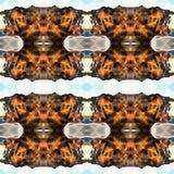 Estratto arancio del modello geometrico Fotografie Stock