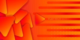 Estratto arancio di musica illustrazione vettoriale