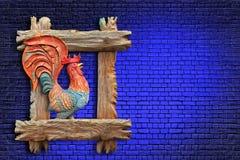 Estratto ardente rosso del gallo Immagini Stock