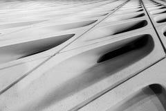 Estratto in bianco e nero delle coperture del vasto museo fotografie stock