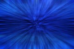 Estratto blu con effetto dello zoom Fotografie Stock Libere da Diritti