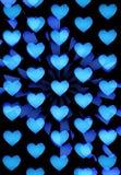 Estratto blu dei cuori Immagini Stock Libere da Diritti