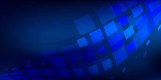 Estratto blu del fondo con le linee di illuminazione concetto digitale Fotografia Stock