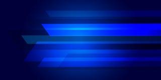 Estratto blu del fondo con le linee di illuminazione concetto digitale Immagini Stock Libere da Diritti