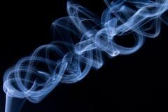 Estratto blu del fumo Fotografie Stock Libere da Diritti