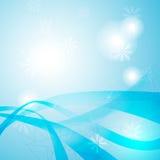 Estratto blu dell'onda illustrazione di stock