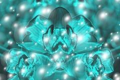 Estratto blu della bolla Fotografie Stock