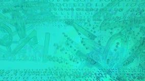 Estratto blu delle luci di Digital Immagine Stock
