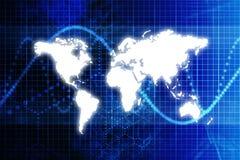 Estratto blu di affari di mondo di Digitahi illustrazione vettoriale