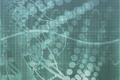 Estratto blu di tecnologia di scienza medica royalty illustrazione gratis