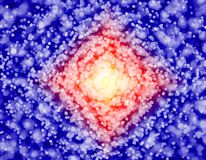 Estratto blu, rosso e porpora intorno a fondo modellato royalty illustrazione gratis