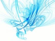 Estratto blu su bianco Fotografie Stock Libere da Diritti
