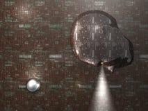 Estratto capo - priorità bassa - 3D Fotografia Stock Libera da Diritti