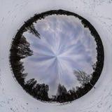Estratto circolare freddo di manipolazione del giardino della neve bianca inglese di Monaco di Baviera Immagini Stock Libere da Diritti