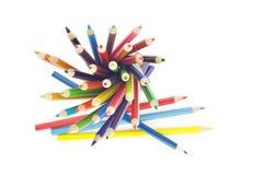 Estratto colorato delle matite Fotografie Stock Libere da Diritti
