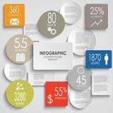 Estratto colorato intorno al elem del grafico di informazioni di rettangolo Immagini Stock