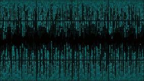 Estratto con le linee digitali, codice binario, fondo con le cifre, struttura della matrice illustrazione vettoriale