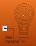 Estratto creativo di idea della lampadina Fotografia Stock Libera da Diritti