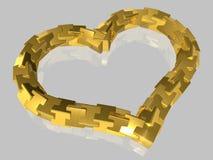 Estratto - cuore - isolato - 3D illustrazione di stock