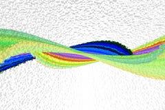 Estratto 3d di Wave Fotografia Stock