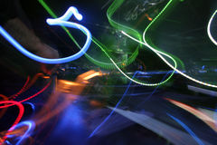 Estratto degli indicatori luminosi e del DJ Fotografia Stock